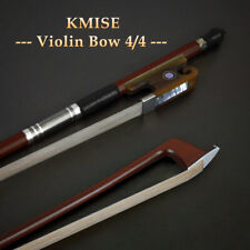 Pernambuco Violin Bow 4/4 Size Fiddle Parts Round Stick OX Horn Frog for Gift