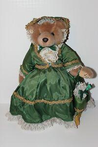 "1995 Bearly People Vintage 17"" #EL06 Elegant Scarlett Bear on Stand"