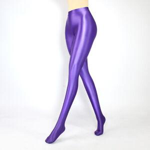 Women's Pantyhose High Waist Sexy Stockings Satin Shiny Breathable Silky Tights