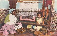 Carte postale ancienne MAROC MOROCCO fabrique de tapis marocains écrite