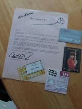 Marie osmond Fan Club 1980's show tickets card photo more