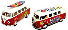 Volkswagen Camper Van Bus Set of 2 Flower Power 1970s Hippy Decors Brand New