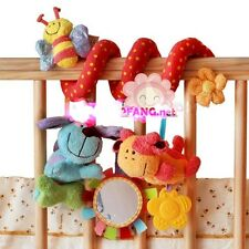 Infant Baby's Colorful Twisty/Spiral/Curly Pram Bar/Car Seat/Cot Activity Toy -S