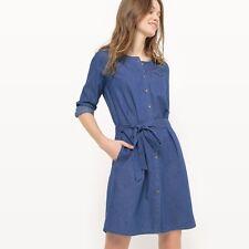 R Essentiel Soft Denim Shirt Dress Blue Size UK 16 rrp £49 DH079 BB 11