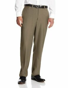 Haggar Men's eCLo Stria Expandable-Waist Plain-Fro - Choose SZ/color