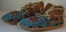 ANTIQUE SIOUX INDIAN FINELY BEADED CHILD'S MOCCASINS
