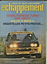 ECHAPPEMENT ; N°91 mai 1976 :  PORSCHE Carrera turbo 3 litres RSR / Simca rallye