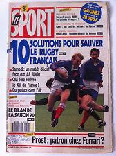Le SPORT du 8/11/1990; 10 solutions pour sauver le Rugby Français/ Prost