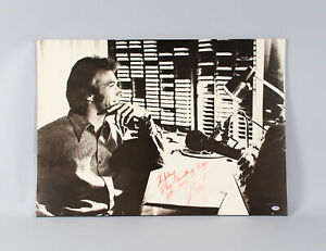 Historic Clint Eastwood Signed Large 24x34 Play Misty For Me Photo PSA DNA COA