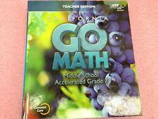 California Go Math Middle School Accelerated Grade 7 Teacher's Ed | Cbk764Ds