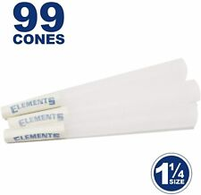 Elements 99 1 1/4 Rice Cones - Natural Unbleached Unrefined Rolling Papers