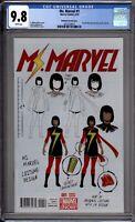 Ms Marvel 1 CGC Graded 9.8 NM/MT McKelvie Variant Marvel Comics 2014