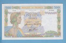(Ref: N.936)  500 FRANCS (LA PAIX) 9/07/1942 (NEUF-) LETTRE RECHERCHÉE