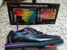 Dexter SST 8 SE Black/Purple Women's Interchangable RH/LH Bowling Shoes Size 7