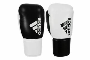 adidas Pro Boxing Gloves Hybrid 400 BBBC Approved Laced Leather Sparring 8-10oz