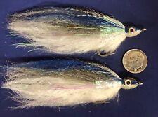 (2) Baitfish Flies. Blue / Gray. Fly Fishing Saltwater, Tarpon, Musky. #1. Bf19