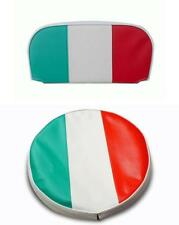 Lambretta & vespa Italian Flag Spare Wheel Cover & Backrest Pad