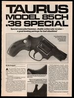 1992 TAURUS Model 85CH .38 Special Revolver 3-pg Evaluation Article
