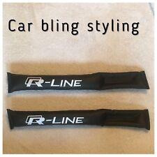 R Line Vw Volkswagen Gap Filler Seat Belt Pad Seat Filler Black Faux Leather