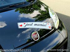 Just Married,Pkw Magnetfolie,Hochzeitsdeko,auch Wunschtext,Hochzeitsschild,52x11