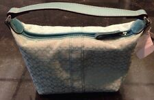 GREAT EASTER GIFT!! Authentic COACH Aqua Soho Mini Signature Top Handle Bag $128