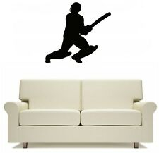 Cricket Batsmen Batter Sport Wall Art Sticker Free Postage