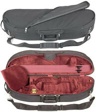 Bobelock 1047 Half Moon 4/4 Violin Case: Wine Velour