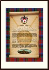 CLAN HAY - Clan History, Tartan, Crest, Castle & Motto MOUNTED PRESENTATION