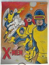 UNCANNY X-MEN Original PASTEL DRAWING by Artist Mike Bennett