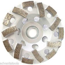 "4"" Premium L-Seg Cup Wheel for Concrete 7/8""-5/8"" Arbor 30/40 Grit"