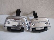 HARLEY ORIGINAL PASSENGER FOOTBOARD KIT W/ MOUNTS & COVERS SOFTAIL '00 '- LATER