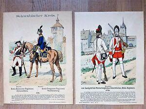 Uniformkunde (Richard Knötel): Schwäbische Grenadiere / Kürassiere / Dragoner
