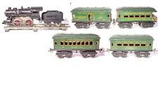 VINTAGE PRE-WAR IVES CLOCKWORK LOCOMOTIVE PASSENGER TRAIN SET