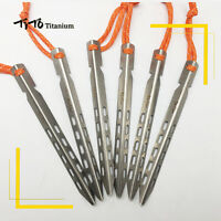 6Pcs Titanium Ti Outdoor Camping V-shaped Tent Canopy Pegs Hooks Stakes