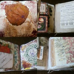 handmade junk journal shabby chic rustic
