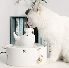 Cat and Dog Ceramic Water Fountain Bowl - Automatic Drinking Water Dispenser