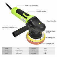"5"" Variable Speed Polisher Buffer Electric Dual-Action Random Orbital Kit 650W"