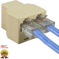 RJ45 1 to 2 LAN ethernet Network Cable Splitter Extender Plug Adapter Connector