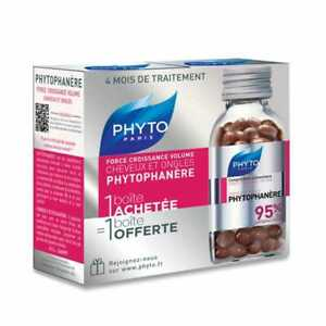 PHYTO Phytophanere Hair and Nails Dietary Supplement 240 Caps. - 4 Months Supply