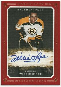 2008-09 UD Masterpieces Red Border WILLIE O'REE Brushstrokes Auto 10/10 Bruins