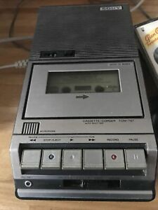 Vintage/Retro Sony TCM-757 Casette Player And Tapes