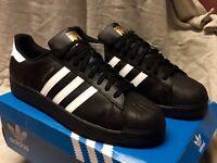 "Adidas Originals ""Superstar"" Foundation◾Size 18◾Black/White◾B27140◾Brand New💰👌"