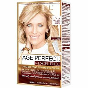 L'Oreal ExcellenceAge Perfect Layered Tone Flattering Hair Color,9G FAST SHIP!!!