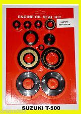 Suzuki T500 Oil Seal Kit Engine Titan 1968 1969 1970 1971 1972 1973 1974 1975