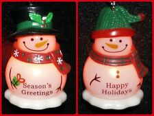 Ganz Christmas Ornament Snowman Blinking Light Up Personalized Choose Name NWT