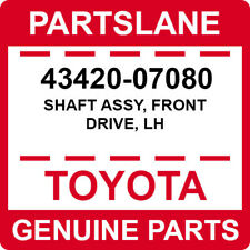43420-07080 Toyota OEM Genuine SHAFT ASSY, FRONT DRIVE, LH