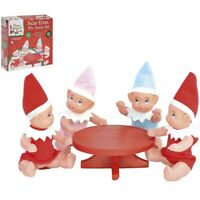 5pc Elf Baby Party Set Naughty Elves Xmas Christmas Toy Doll Sitting Shelf