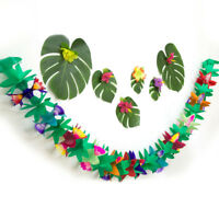 EG_ 3M Hawaiian Garlands Flower Banner Bunting Hula Birth Party Hanging Decor Gr