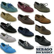 Sebago Docksides Nubuck Mens Leather Ariaprene Lace Smart Casual Loafer Shoes