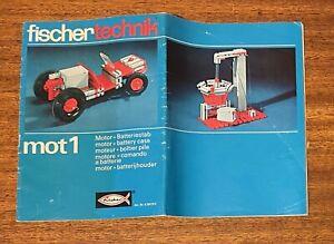 Vintage fischertechnik mot1 Manual
